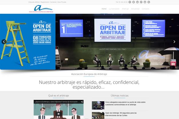 Diseño de página web asociacioneuropeadearbitraje