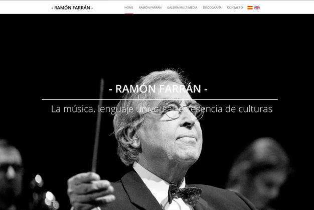 Página web de Ramón Farrán