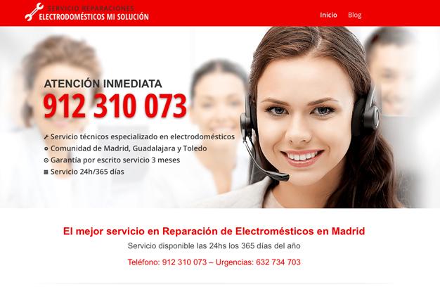 Diseño web reparacioneselectrodomesticos