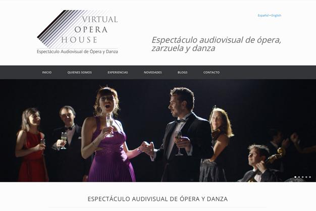 Desarrollo web virtual opera house
