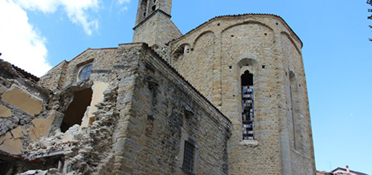 Basilica di San Francesco AMATRICE-Foto Carabinieri Tutela Patrimonio Culturale